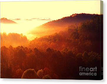 Majestic Mountain Sunrise Canvas Print by Thomas R Fletcher
