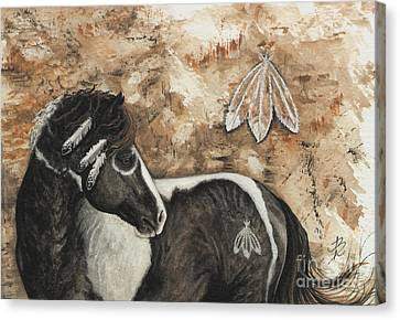 Majestic Curly Horse #52 Canvas Print by AmyLyn Bihrle