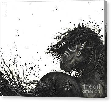 Majestic Friesian Horse 53 Canvas Print