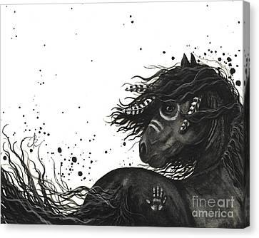Majestic Friesian Horse 53 Canvas Print by AmyLyn Bihrle