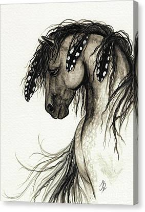 Grey Horse Canvas Print - Majestic Mustang Horse Series #51 by AmyLyn Bihrle