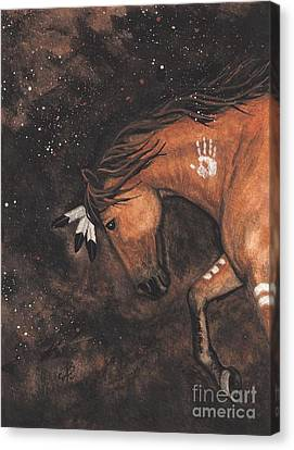 Majestic Mustang Series 40 Canvas Print by AmyLyn Bihrle