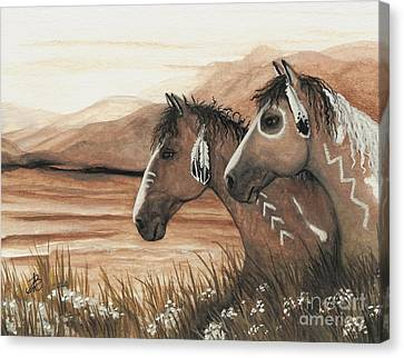 Majestic Mustang Series 42 Canvas Print by AmyLyn Bihrle