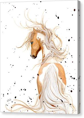 Majestic Palomino Pinto Canvas Print by AmyLyn Bihrle