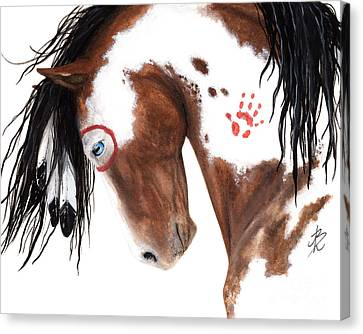 Majestic Pinto Horse 129 Canvas Print by AmyLyn Bihrle