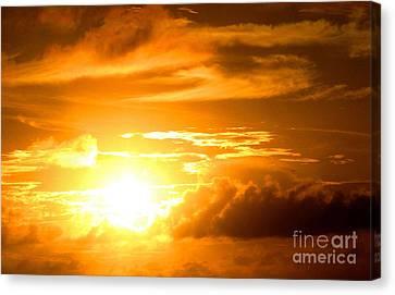 Majestic Sunset Canvas Print by Kristine Merc