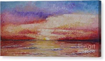 Majestic Sunset  Canvas Print by Tatjana Popovska
