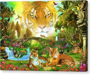 Majestic Tiger Grotto Canvas Print by Aimee Stewart