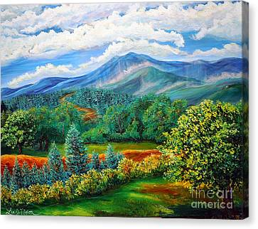Canvas Print featuring the painting Majestic View Of The Blue Ridge by Lee Nixon