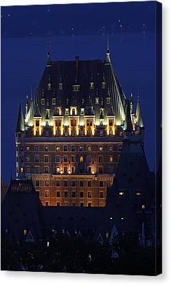 Majesty Of Chateau Frontenac In Quebec City Canvas Print by Juergen Roth