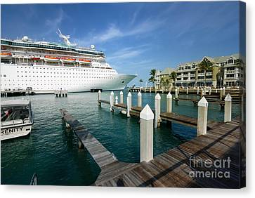 Majesty Canvas Print - Majesty Of The Seas Docked At Key West Florida by Amy Cicconi
