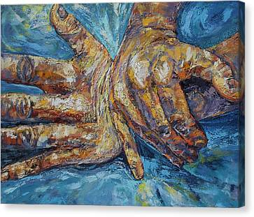 Expressionistic Canvas Print - Major Adjustments II by Susi LaForsch