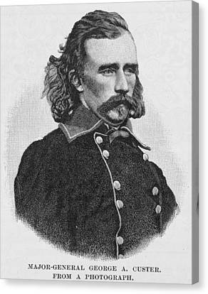 Officer Canvas Print - Major General George Armstrong Custer, Engraved From A Photograph, Illustration From Battles by Alexander Gardner