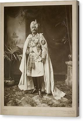 Major General Hh Maharaja Sir Pertab Sing Canvas Print by British Library