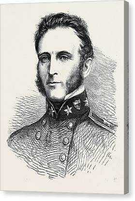 Major-general Stonewall Jackson Of The Confederate Army 1862 Canvas Print by English School
