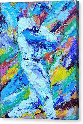 Major League Player Canvas Print by Charles Ambrosio