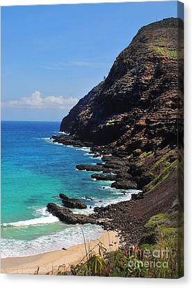 Makapu'u Beach 2 Canvas Print by Kristine Merc