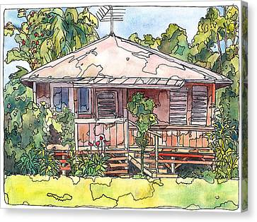 Makawao House Canvas Print by Stacy Vosberg