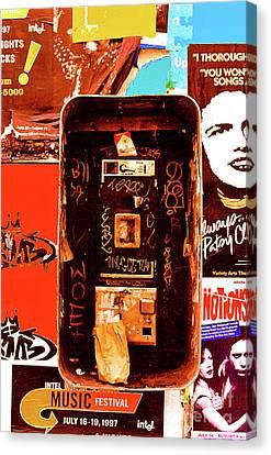 Make A Phone Call Canvas Print by Elizabeth Hoskinson
