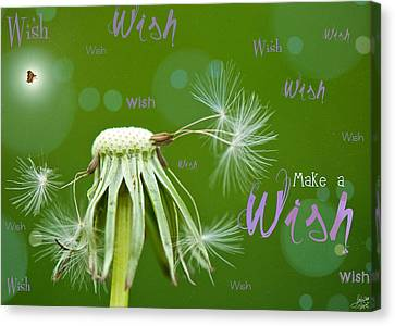 Make A Wish Card Canvas Print