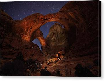 Canvas Print featuring the photograph Make It A Double by David Andersen