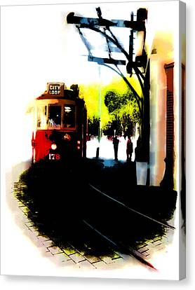 Make Way For The Tram  Canvas Print