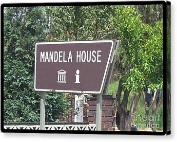 Make Your Heart Mandela House  Canvas Print by Barbie Corbett-Newmin