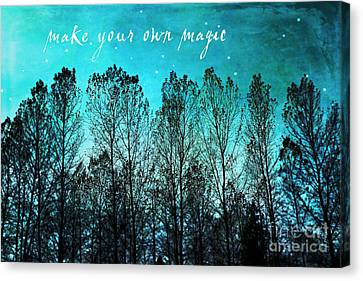 Make Your Own Magic Canvas Print by Sylvia Cook