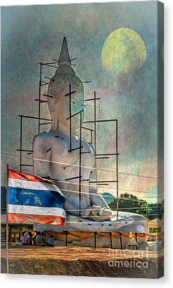 Making Buddha Canvas Print by Adrian Evans