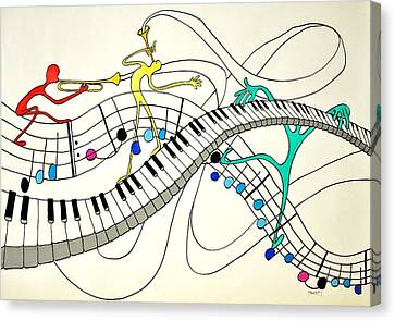 Making Music Canvas Print by Glenn Calloway