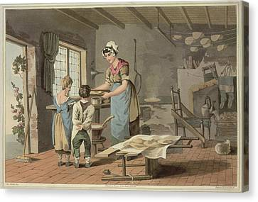 Cooks Illustrated Canvas Print - Making Oat Cakes by British Library