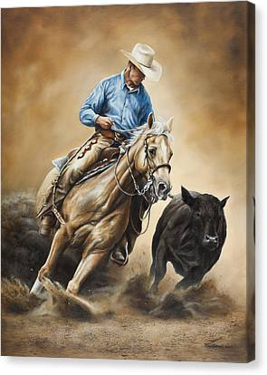 Rodeo Canvas Print - Making The Cut by Kim Lockman