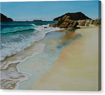 Canvas Print featuring the painting Making Waves by Jo Appleby