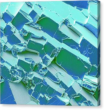 Inorganic Solid Canvas Print - Malachite by Steve Gschmeissner
