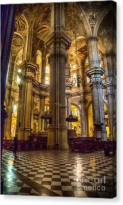 Malaga Cathedral Vi Canvas Print by Rene Triay Photography
