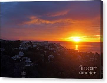 Malaga Sunrise Canvas Print by Rod Jones