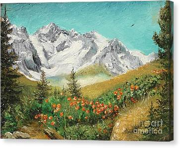Canvas Print featuring the painting Malaiesti by Sorin Apostolescu