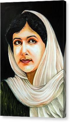 Malala Yousafzai Canvas Print by Arun Sivaprasad
