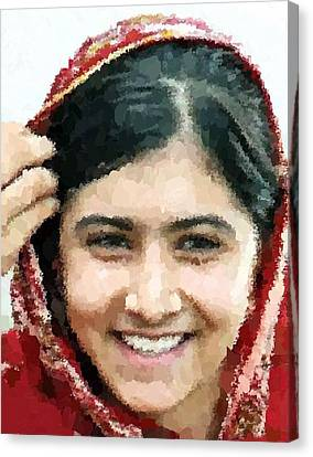 Malala Yousafzai Portrait Canvas Print