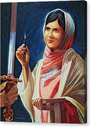 Malala Yousafzai Canvas Print by Steve Simon