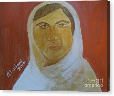 Honoring Malala Yousafzi Shot By Taliban For Championing Equal Rights To Schooling For Girls 1 Canvas Print by Richard W Linford
