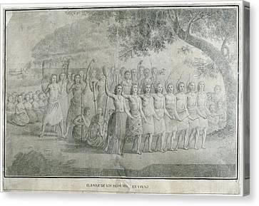 Malaspina Expedition 1789-1794. Tonga Canvas Print by Everett
