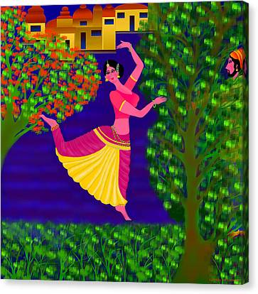 Malavika's Magical Touch Canvas Print