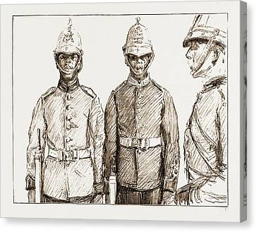 Malay Armed Police Straits Settlements Contingent Canvas Print by Litz Collection