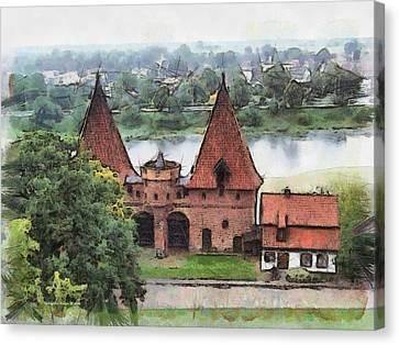Malbork Castle Canvas Print by Aleksander Rotner