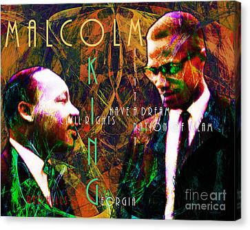 Malcolm And The King 20140205 With Text Canvas Print by Wingsdomain Art and Photography