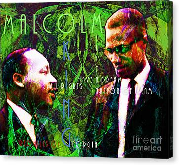 Malcolm And The King 20140205p68 With Text Canvas Print by Wingsdomain Art and Photography