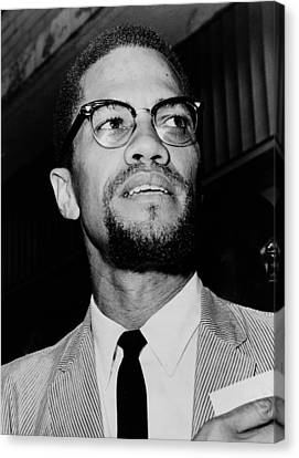 Malcolm X Canvas Print - Malcolm X 1963 by Mountain Dreams