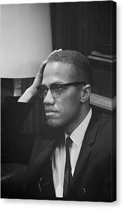 Malcolm X 1964 Canvas Print by Mountain Dreams