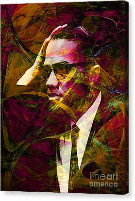 Malcolm X 20140105 Canvas Print by Wingsdomain Art and Photography